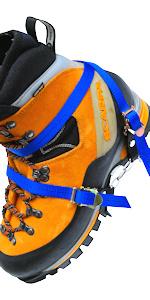 【M.walk】 X型アイゼン 折り畳み バックル