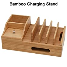 Bamboo Charging Stand