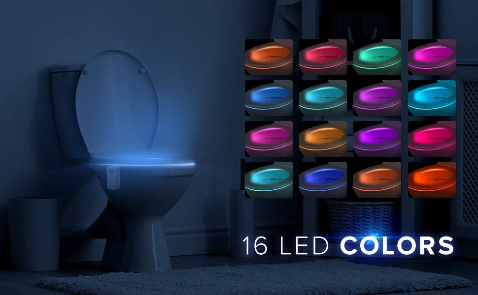 Best Toilet Night Light Motion Sensor Perfect Gift Christmas Cool Fun Gadget Housewarming Present