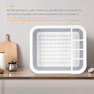 Égouttoir à vaisselle pliable