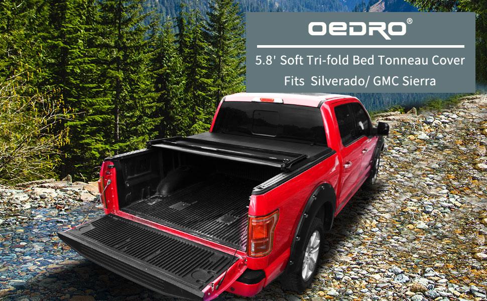 5.8 feet tri-fold tonneau cover