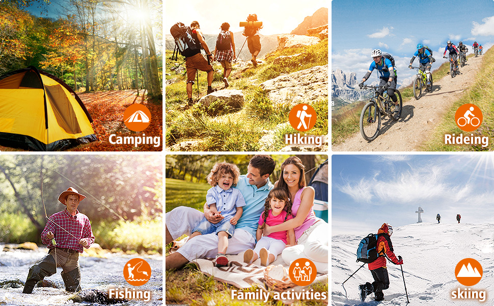 outdoor activites,camping,hiking,riding,fishing,skiing,family activites