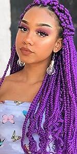 long kanekalon braiding hair 41 inch purple braiding hair 165g braiding hair long synthetic braid