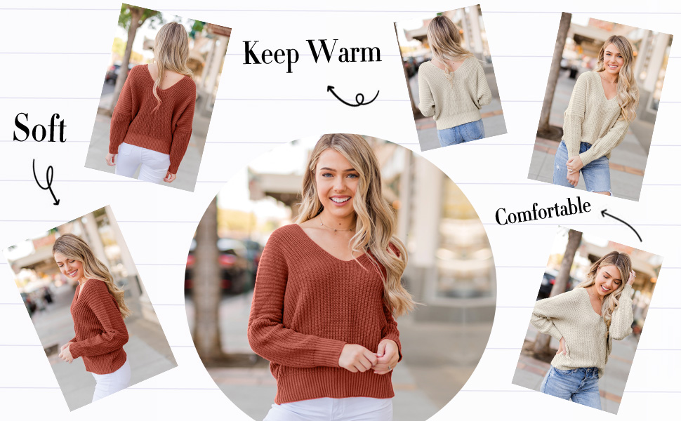 Beaurex Women Casual Loose Warm Pullover Knitted Sweaters Cute Printed Over-Sized Long Sleeve KN4003