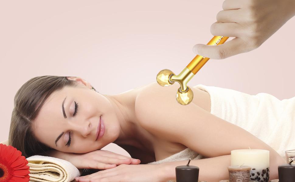 2 in 1 beauty bar 24k golden pulse facial face massager 24k gold face massager 24kt face massager