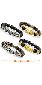 4pcs pixiu feng shui bracelet