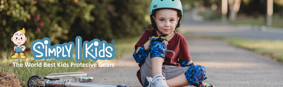 kids knee and elbow pads with bike gloves happy kids simply kids wrist guards skateboard biking