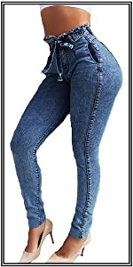 Womens High Waisted Mom Jeans Casual Pencil Jeans,only 34.99
