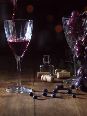 Chic wine glasses, Chic champagne flutes, Chic glasses, chic tableware glasses