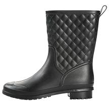 black rain boots for women mid calf wide calf lightweight waterproof cute rubber gardening boots