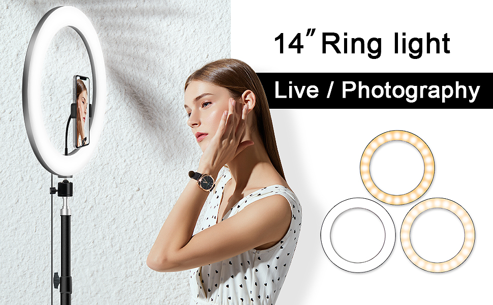photography 14-inch selfie ring light