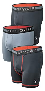 Spyder Mens Boxer Briefs Performance Sports Compression Shorts Athletic Mens Underwear