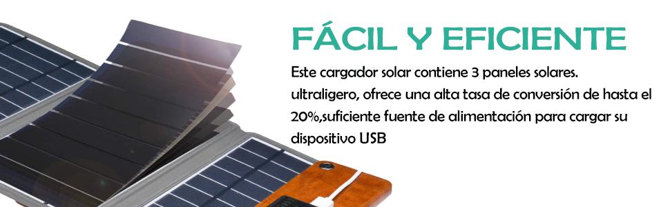 Zuukoo Cargador Solar portátil, Panel Solar de 5V 22W con Puertos USB Dobles a Prueba de Agua Plegable para teléfonos Inteligentes, tabletas y Viajes de Camping: Amazon.es: Electrónica