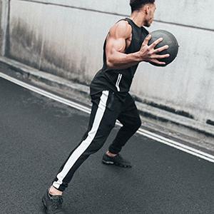 Mens Joggers Gym Sweatpants Tracksuit Bottoms Casual Jogging Workout Trousers