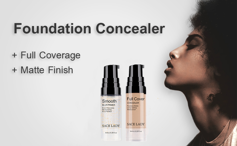 Foundation Concealer Full Covetage Matte Finish Makeup Set For women Sace Lady Cosmetic Correctors