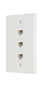 3 port cat6 ethernet wall plate