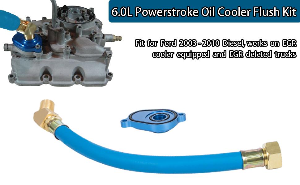 6.0L Oil Cooler Flush Kit Great Replacement Oil Cooler Flush Kit for 6.0L Ford Powerstroke 2003-2010 Diesel