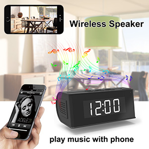 wireless speaker security camera hidden camera nanny camera clock