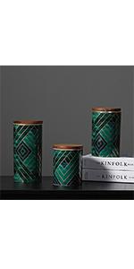 Emerald Green Food Storage Jar