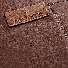Gallaway-Leather-Messenger-Bag-closeup-logo