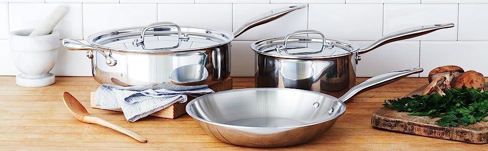 heritage steel cookware set titanium