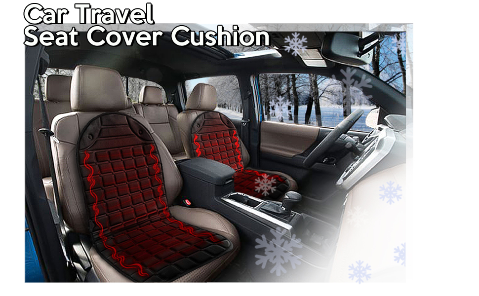Car Heated Seat Cover Cushion 2 pack