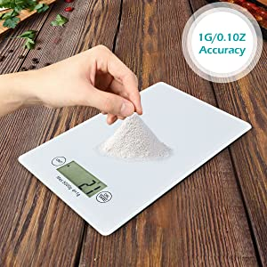 Food scale tempered glass