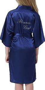 girls satin robe