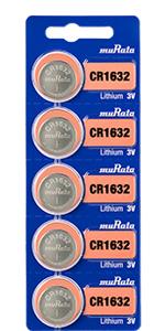 Murata lithium battery, size CR1632