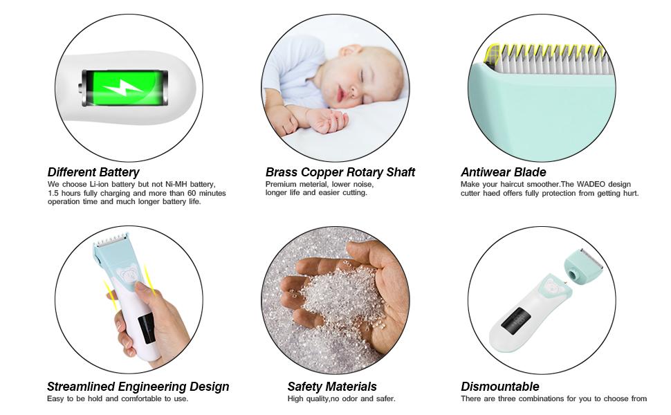 elebebe hair trimmer fade haircut guide hair clipper for kids hair kit for kids kids hair clippers