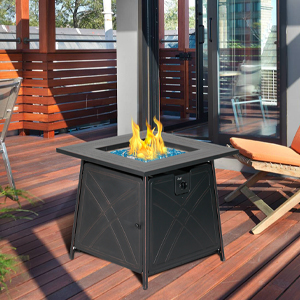 gas fire pit table