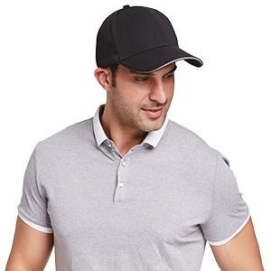 Design Signal Geek Peak Cap for Men Black