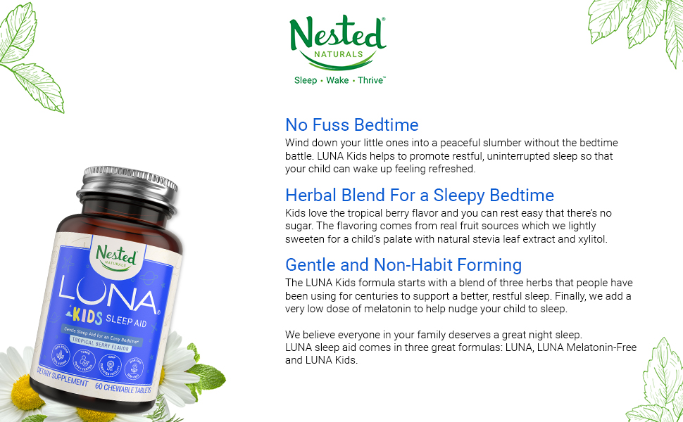 natural sleep sleeping aid insomnia relief chewable supplement kids toddlers babies zarbees ozzzz