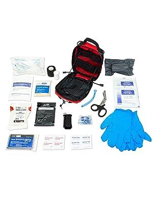lifeguard trauma survival vest bag stop bleeding rescue emergency empty travel first responders
