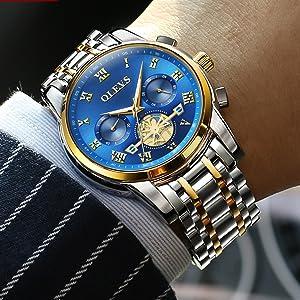 olevs stylish masculine luxury watch