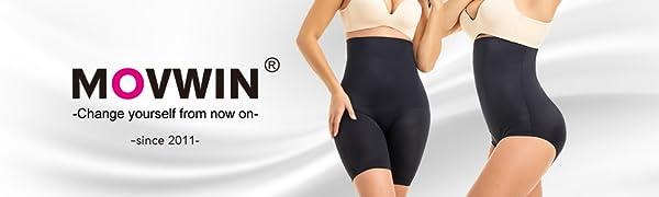 MOVWIN Women/'s Shapewear High Waist Seamless Body Shaper Thigh Slimmer Shorts Butt Lifter Tummy Control Panties Girdle