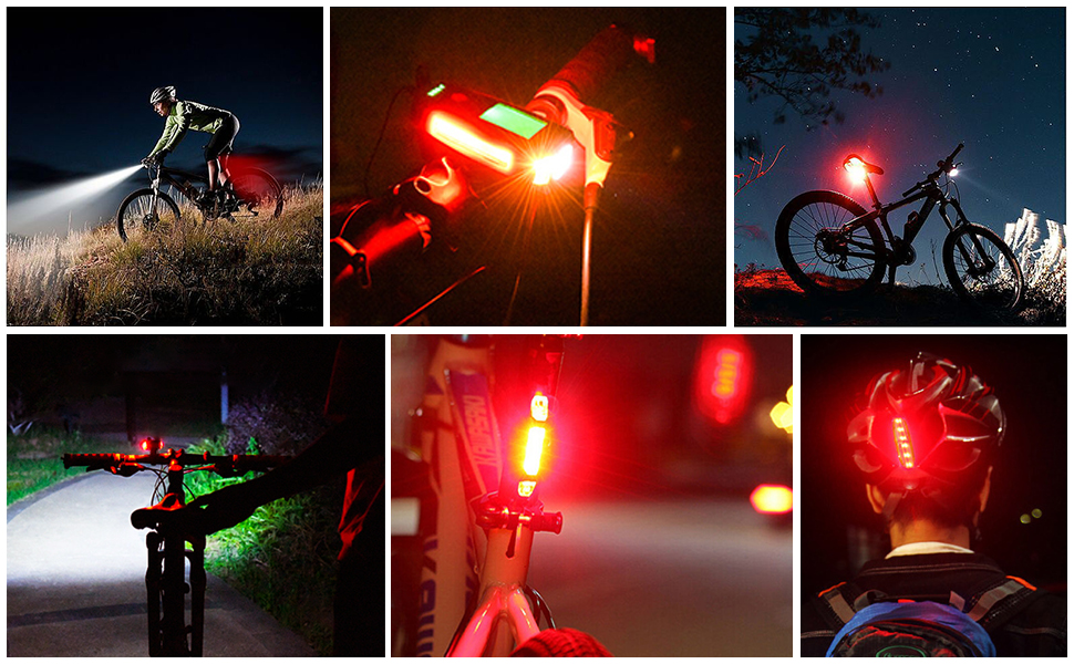 bicycle lights front and rear rechargeable