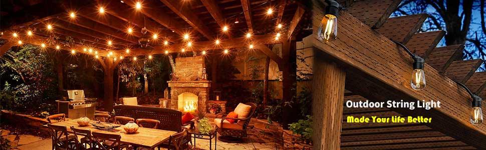 outdoor string lights led patio string light hanging lighting outside lights string waterproof