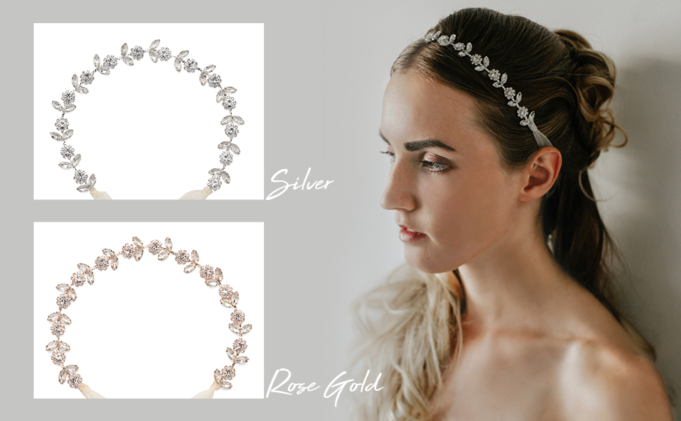 We offer 2 colors for your choice: Silver and Rose Gold