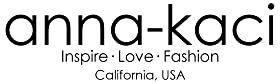 Anna Kaci Logo. Inspire, love, fashion. Boho dresses, cardigans, sequin, running shorts, and tops