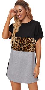 Women Leopard Mini Dress