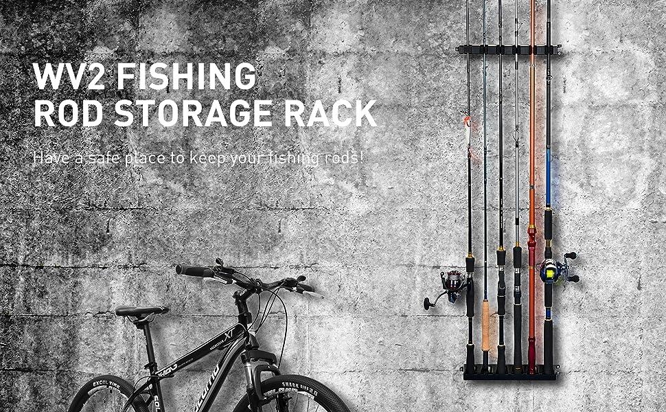 WV2 Fishing Rod Rack