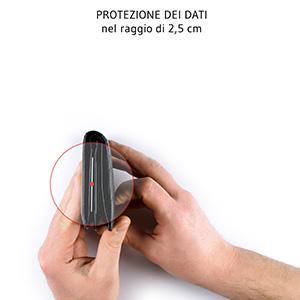 segnale di interferenza raggio di 2,5 cm