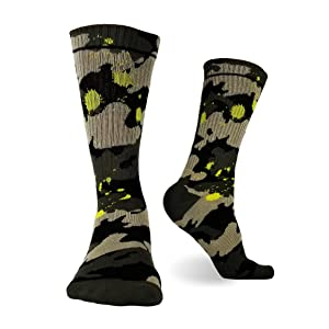 Men's Cotton Crew Socks Camouflaged Tube Socks
