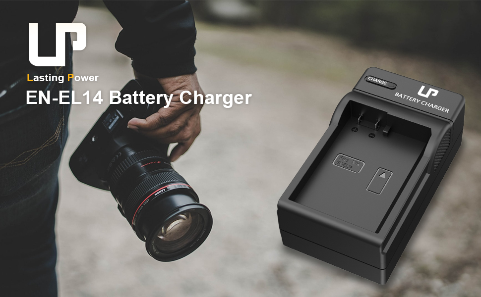 Cunas de Cargador para EN-EL14 Li-Ion batería Compatible con Nikon D3100 D3200