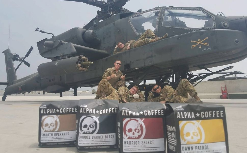 Coffee For Troops, Double Barrel Black, Smooth Operator, Warrior Select, Dawn Patrol, Deployment
