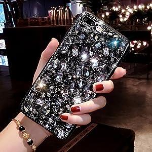 Bling Glitzer Hülle Für Galaxy A70 Misstars 3d Diamant Strass Handyhülle Transparent Hart Pc Rückschale Mit Silikon Tpu Rahmen Schutzhülle Für Samsung Galaxy A70 Silber Musikinstrumente