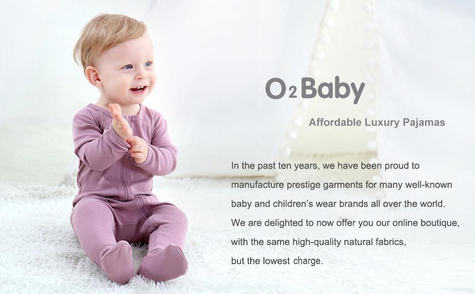 Footed Sleep n Play Baby Boys Girls Organic Cotton Zip Front Long Sleeve Pajamas