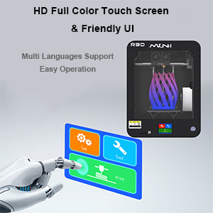 HD Full Color Touch Screen