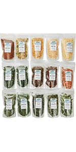 Dehydrated Vegetable Sampler – 15 Count Variety Pack